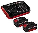 Einhell Original Starter Kit 2x 4 Ah batería y Twincharger Power X-Change...