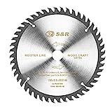 S&R Hoja de Sierra Circular Madera 160 mm x 20 mm (+ 16 mm anillo) x2,2mm...