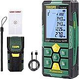 Medidor Láser 50m, USB 30mins Carga rápida, TECCPO Telémetro láser,...