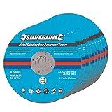 Silverline 224514 - Discos de desbaste de centro hundido para metal, 10...