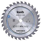 kwb 587157 - Hoja de sierra circular para madera y madera dura, 200 x 16...