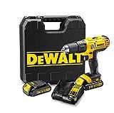 DEWALT DCD776C2-QW - Taladro percutor XR 18V, 25.500 ipm, incluye 2...
