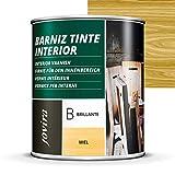 BARNIZ TINTE INTERIOR BRILLANTE, (6 COLORES), Barniz madera, Protege la...