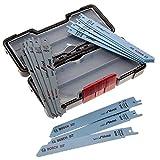 Bosch Professional Set Toughbox con 15 hojas de sierra sable para mdera y...