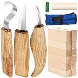 Cuchillo de Gancho de Talla yangbaga 12pcs Bloques de Talla de Madera...