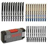 Bosch Professional Set Tough Box con 30 hojas de sierra de calar Basic for...