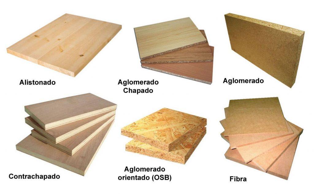 tipos de tablero de madera